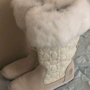"Gorgeous White Fur COACH ""Talen"" Boots!"